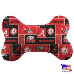 Alabama Crimson Tide Plush Bone Toy (Option: Small)