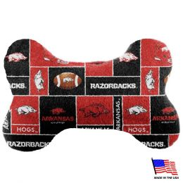 Arkansas Razorbacks Plush Bone Toy (Option: Small)