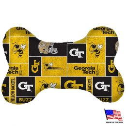 Georgia Tech Plush Bone Toy (Option: Small)