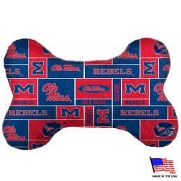 Ole Miss Rebels Plush Bone Toy (Option: Small)