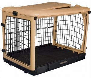 Deluxe Steel Dog Crate With Pad (Color: Large)