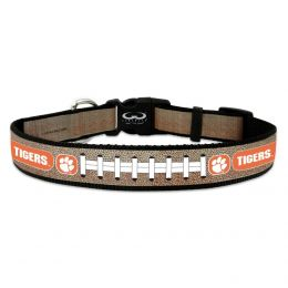 Clemson Tigers Reflective Football Pet Collar (Option: Toy)