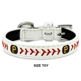 Pittsburgh Pirates Classic Leather Baseball Collar (Option: Toy)