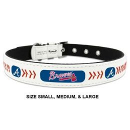 Atlanta Braves Classic Leather Baseball Collar (Option: Toy)