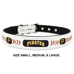 Pittsburgh Pirates Classic Leather Baseball Collar (Option: Small)