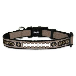 New Orleans Saints Reflective Football Pet Collar (Option: Large)