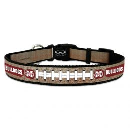 Mississippi State Reflective Football Pet Collar (Option: Toy)