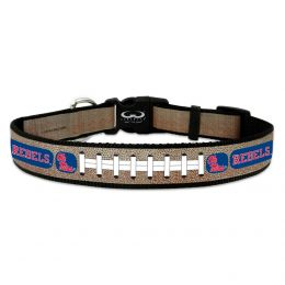 Ole Miss Rebels Reflective Football Pet Collar (Option: Large)