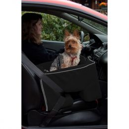 Large Dog Booster Car Seat (Color: Black)