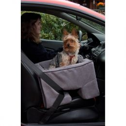 Large Dog Booster Car Seat (Color: Charcoal)
