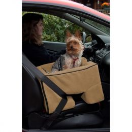 Large Dog Booster Car Seat (Color: Tan)
